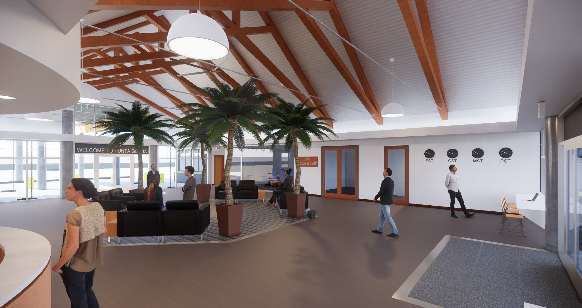 GA Center Interior Rendering