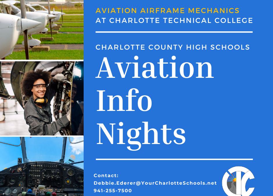January & February Aviation Mechanics Info Sessions