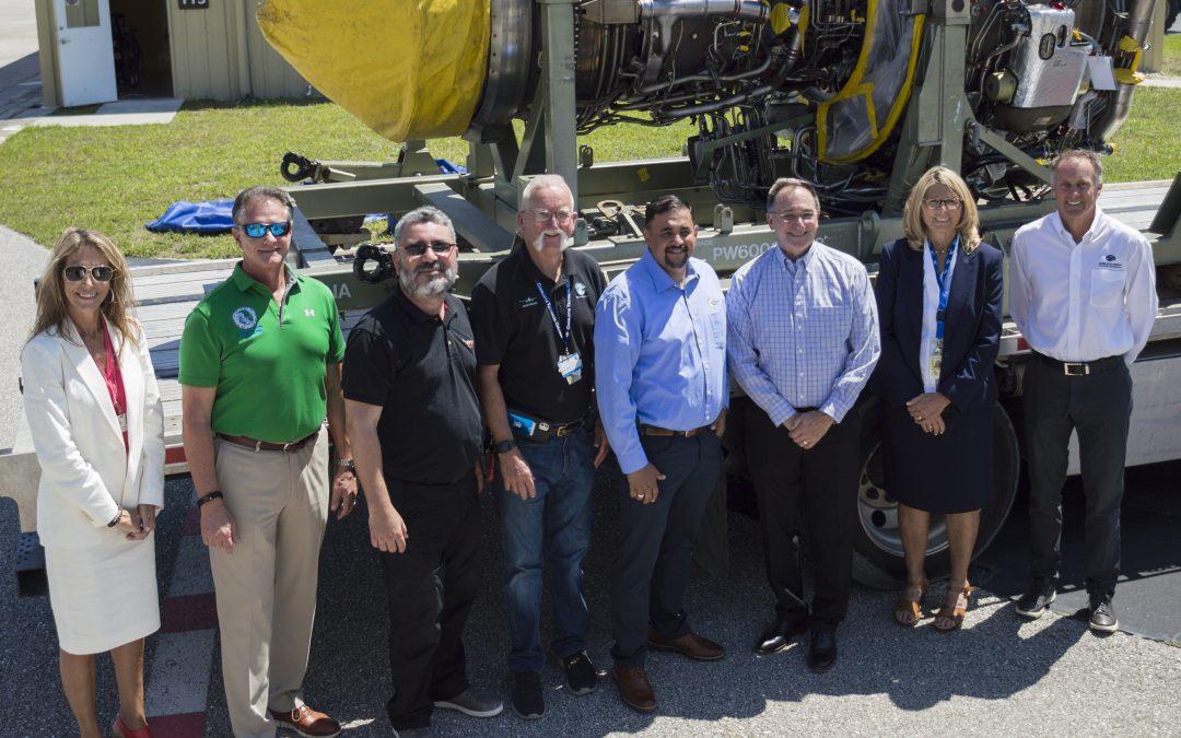 $2 Million Aircraft Engine Lands at A&P School